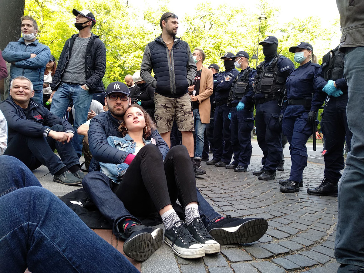 Strajk przedsiębiorców w Warszawie. Masowe aresztowania uczestników.